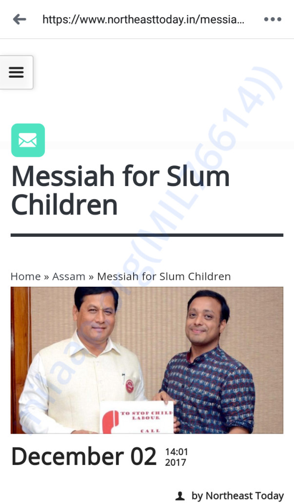 UTSAH's Founders interview: Messiah for Slum Children