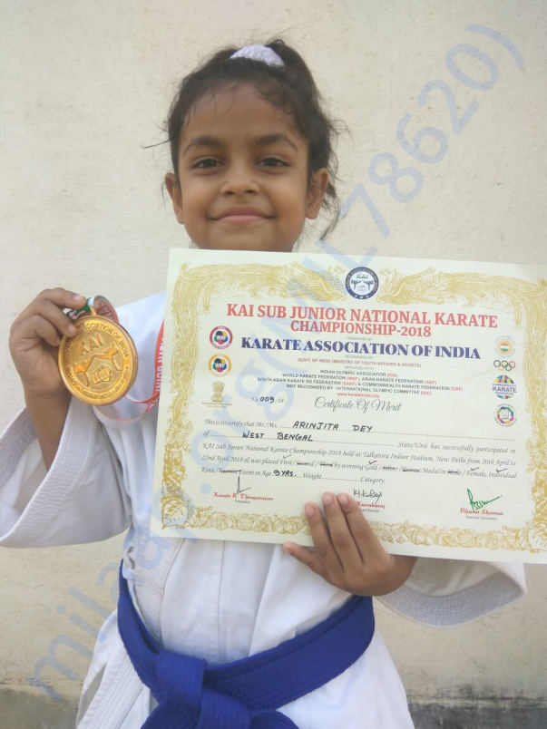 With KAI SUBJUNIOR 2018 CERTIFICATE AND MEDAL