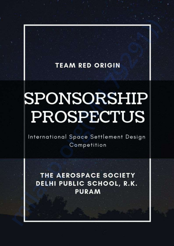 Team Red Origin Sponsorship Prospectus