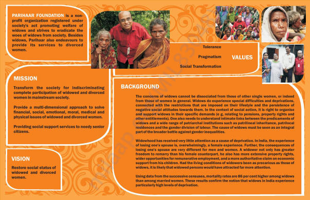 Parihaar Foundation Leaflet page no. 1