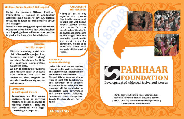Parihaar Foundation Leaflet page no. 2