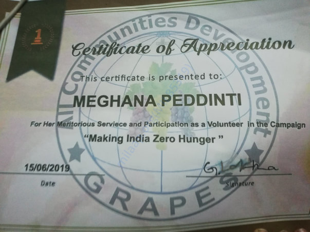 My donation towards an NGO