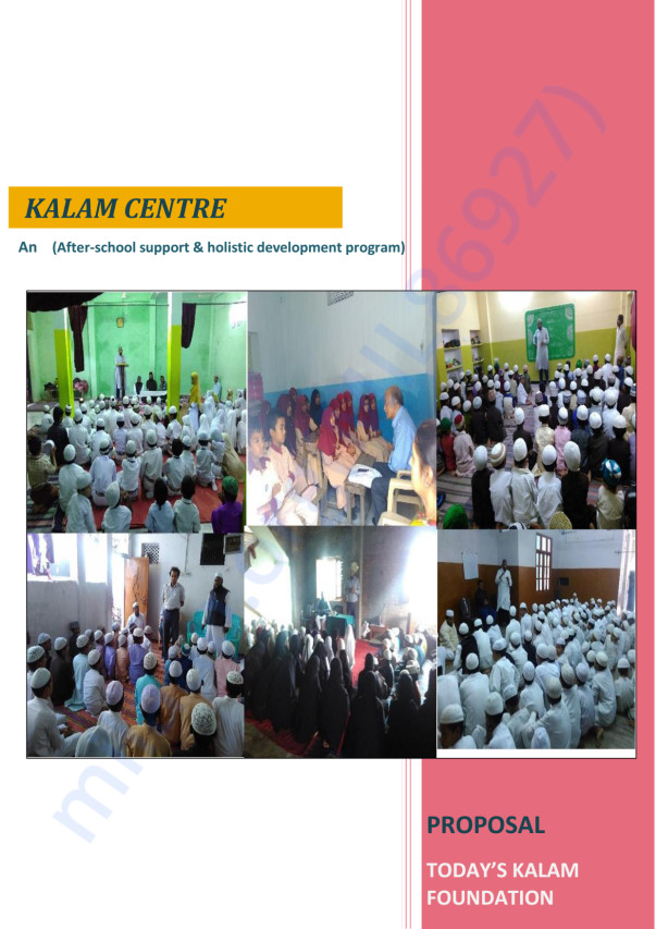 Kalam Center Proposal and Budget Division