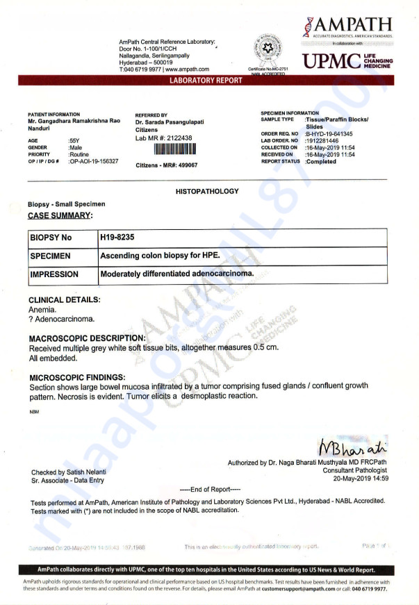 Biopsy Report and Dr prescription file
