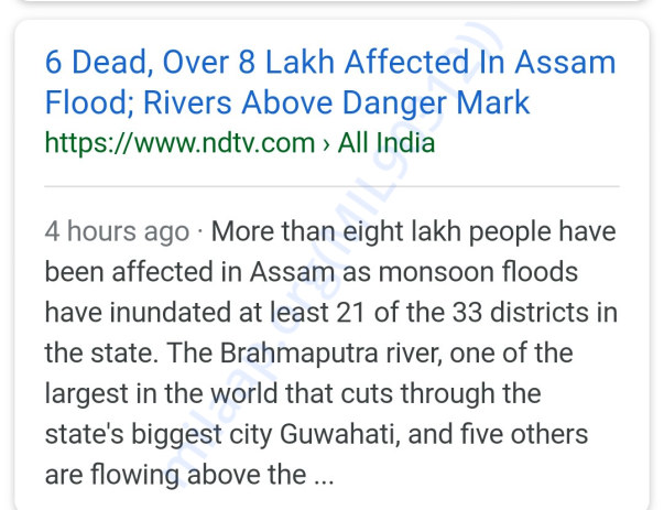 The flood situation in Assam turned serious please help Assamese Ppl