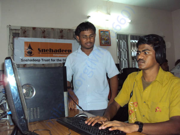 computer training for the blind