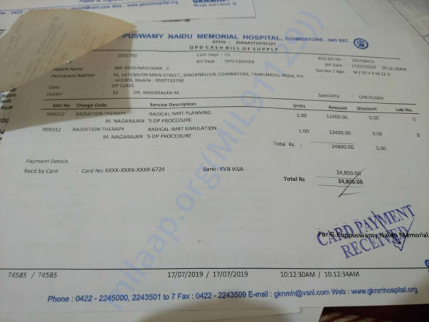 Radiation Bills for first cycle!!!