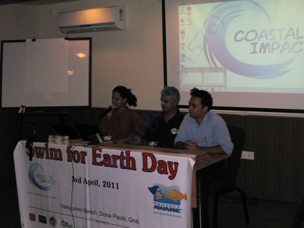 SWIM FOR EARTH DAY - PRESS CONFERENCE