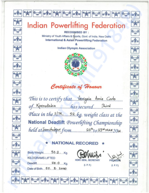 National Powerlifting championship