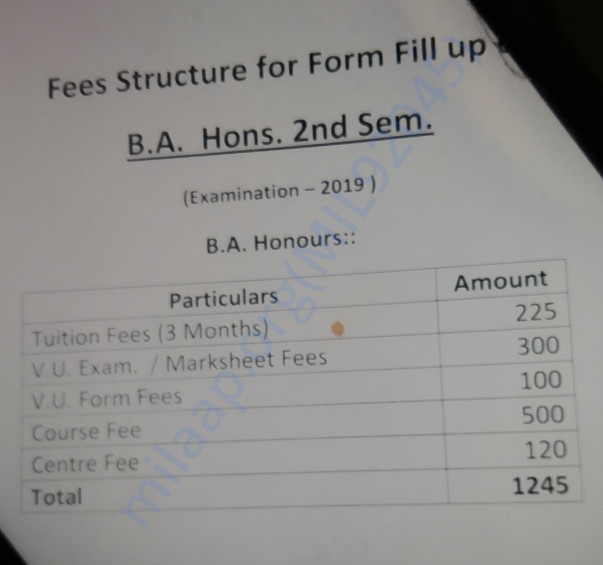 2nd semester fees