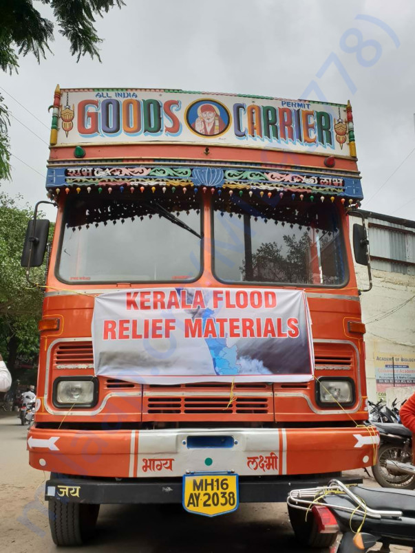 Our Truck which was sent for Kerala Flood Relief work directly