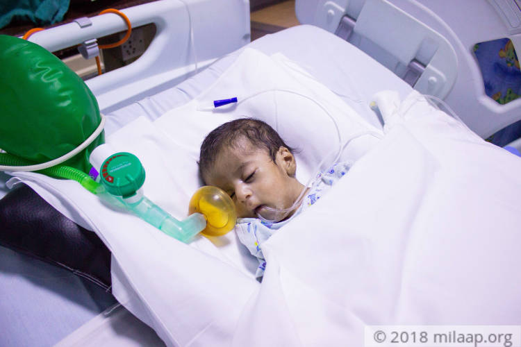 """He was rushed to the ICU just a few hours after birth because he was also  having trouble breathing.""""-Sona."""