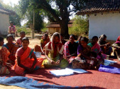 Tribal families in Shahitoli Village in Gumla