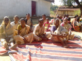 Tribal families in Pasanga Village in Gumla