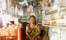 Vanlalmawii at her petty shop