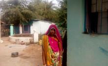 Sushilaben outside the Prayas office