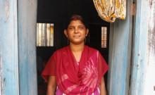 Pushpendu's mother Lakshmi in her house