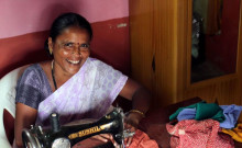Muttavva with her tailoring machine