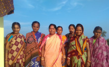 Bharati Pardhan and Janaki with other group members