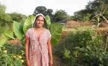 Usha in her farm.