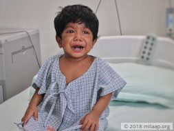 Baby Uzma needs a liver transplant to survive