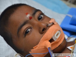Help 7-year-old Barathraj fight for his life in the ICU