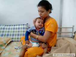 1-year-old Adhiraj is suffering in pain due to a severe immune disease
