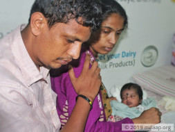 Bhagyamma's baby will succumb to a fatal infection without urgent help