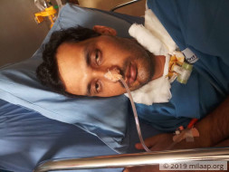 Vikram is paralyzed from neck below and needs your support for cure