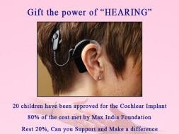 I am fundraising to GIFT THE POWER OF HEARING