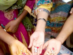 I'm fundraising to reach for a dream - to go with my 16-year-old on a crafts and textiles trail through India.