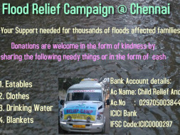Flood Relief Campaign to rebuild Chennai,India