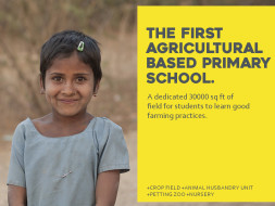 #BeBoldForChange. Support India's first agri-based school.