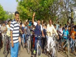 Bengaluru Marathon: Support cycling and Road Safety, Sanjaynagar