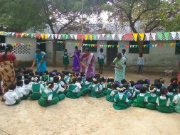 support basic education for poor children in village school