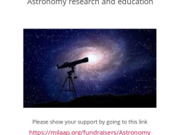 Astronomy research and education