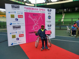 Support wheelchair tennis player, Shiva Prasad, break records