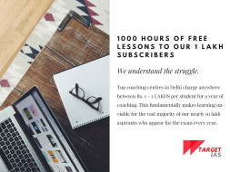 1000 Free Online Lessons to our 1 Lakh Subscribers