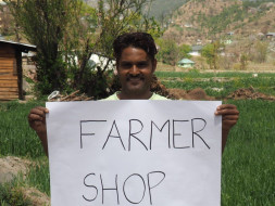 Local organic farmer shop by farmers in Pangna, Himachal Pradesh