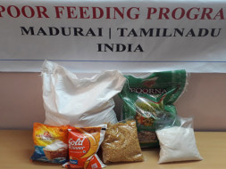 Provide monthly ration for poor family