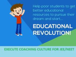 Help to provide education of JEE/NEET aspirants