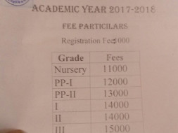 Schools fees for the academic year 2017-18 in hyderabad for foundation