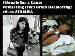 Help Sirisha an Orphan Fight Brain Haemorrhage. Help Save a life♥️