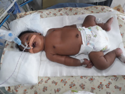 Sujatha's 1-month-old baby is suffering from Pneumonia and needs help
