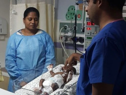 5 month old preterm baby battling to survive