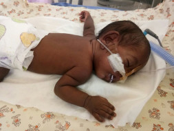 Sudha's baby is two months premature and she is struggling to save him