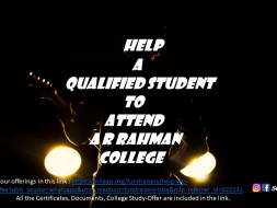 Help a qualified student to attend college