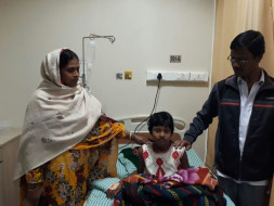 9-year-old Sumaiya is in severe pain due to bone cancer