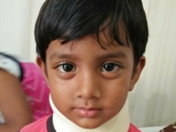 Help 3-yr old Srinu fight Cancer