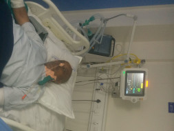 Help of  my father fight against brain hemorrhage in I.c.u